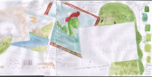 Watercolour sample of 'No Such Thing as Nessie!'