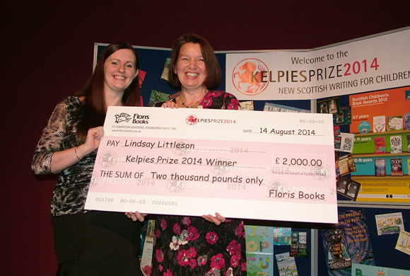 Lindsay Littleson - winner of the Kelpies Prize 2014