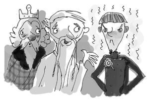 """Richard: """"I love Oswald's turn as the world's worst translator in Thorfinn and the Terrible Treasure. """"You told the French Ambassador he stinks? Ye great eejit! Tell him I'm sorry!"""" cries King Appin. How does Oswald fix things? """"I told him you're sorry that he stinks."""" Whoops!"""""""