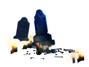 tombstones-with-bones