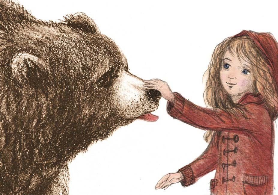 The Island and the Bear, illustrated by Vanya Nastanlieva