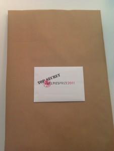 Kelpies Prize 2011 cheque - Top Secret