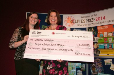 Lindsay Littleson - winner of the Kelpies Prize 2014