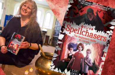 Magical Mayhem at the Launch of Lari Don's Spellchasers Trilogy