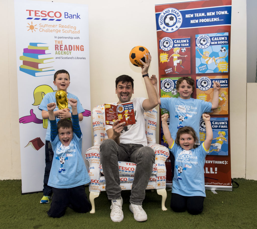 Football tips and tricks with Danny Scott at Hampden Park