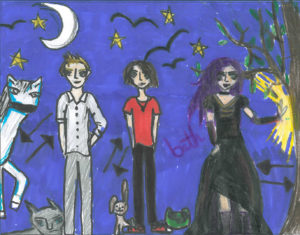 Spellchasers fan art by Nell from Stromness Primary School