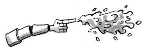 Gunge soaker robot arm