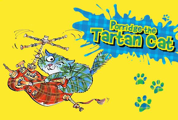 Porridge the Tartan Cat - Pet Show Show-Off competition
