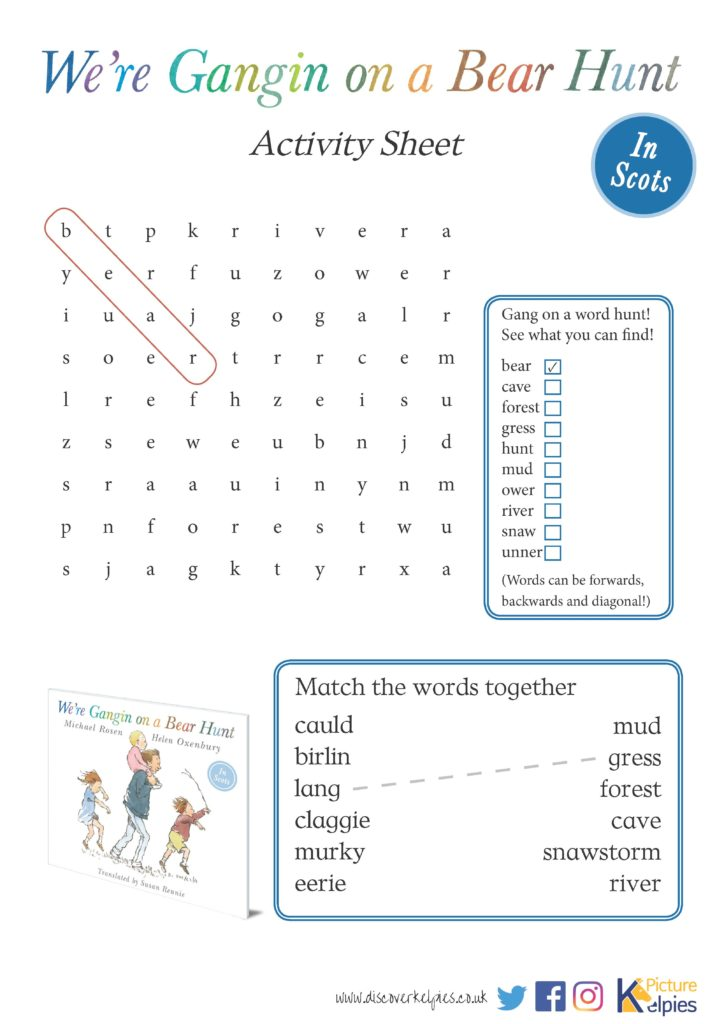 Download your Bear Hunt Activity Sheet