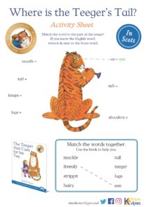 Where's the Teeger's Tail? - Worksheet