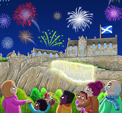 Floris Books and Historic Environment Scotland announce a new collaboration. Image from Little Explorers: Scottish Castles