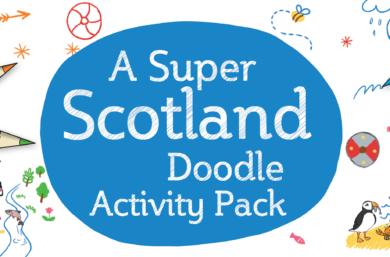 A Super Scotland Doodle Activity Pack