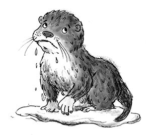 Illustration from The Baby Otter Rescue