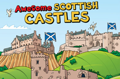 Awesome Scottish Castles map
