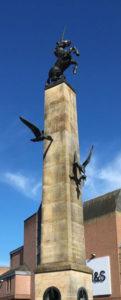 Unicorn statue in Falcon Square, Inverness